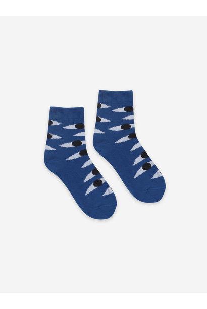 Eyes blue short socks