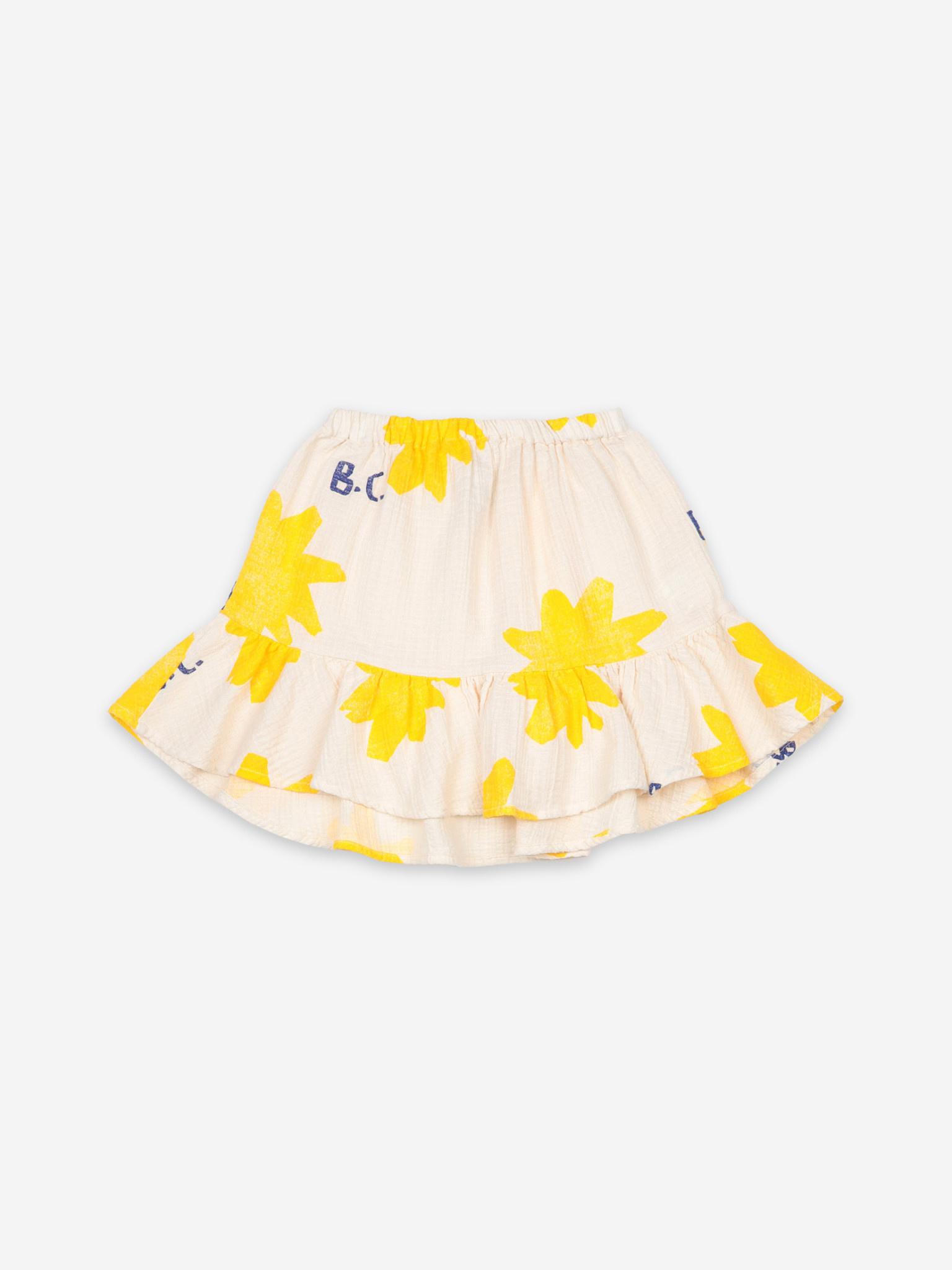 Sparkle all over ruffle mini skirt-1