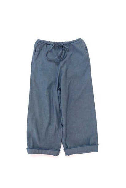 Baggy pants blue chambray