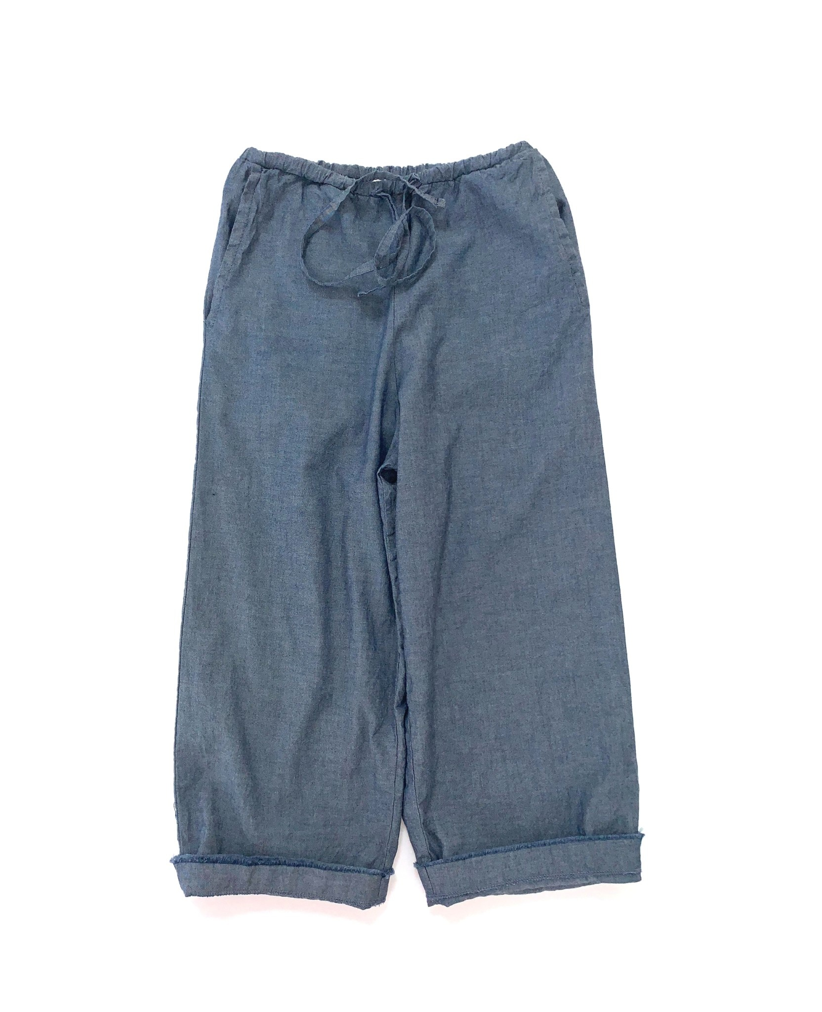 Baggy pants blue chambray-1