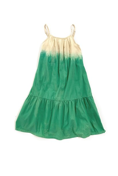 Wide dress green dipdye
