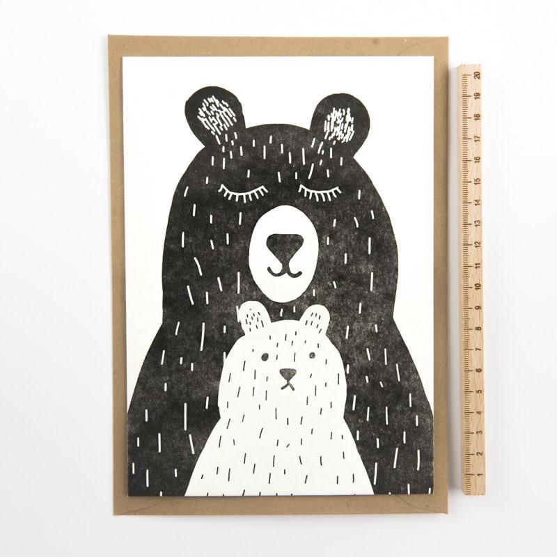 Kaartje 'two bears'-1