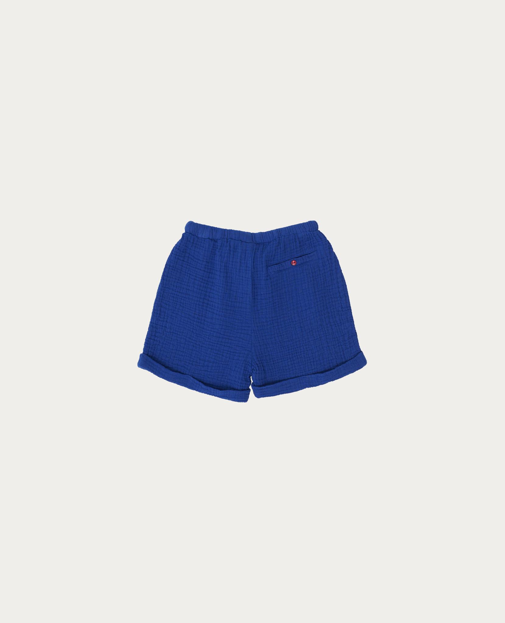 Blue bambula short-1
