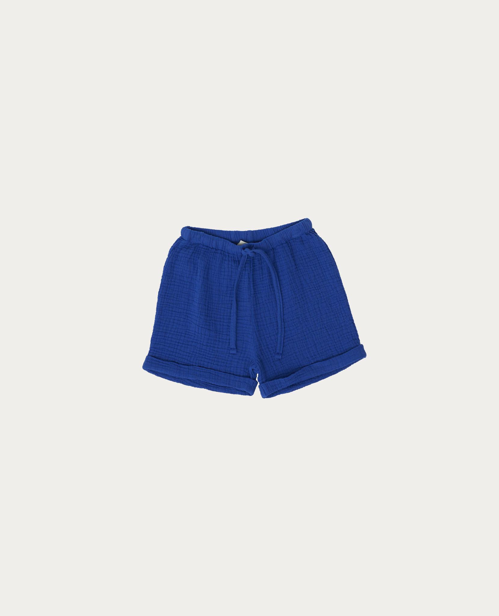 Blue bambula short-2