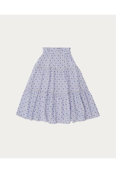 Checks and flowers skirt