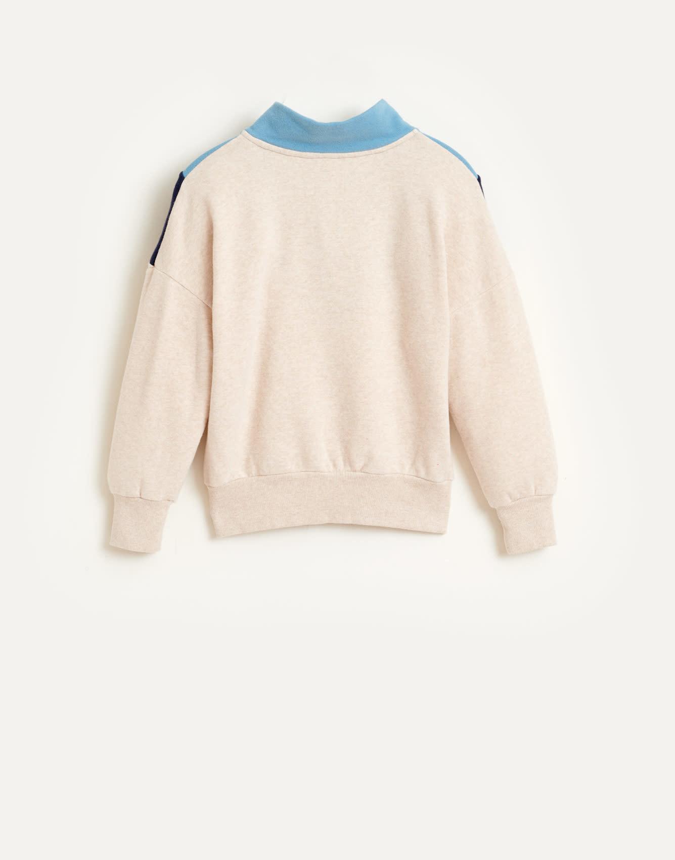 Vichy sweatshirt oyster-2