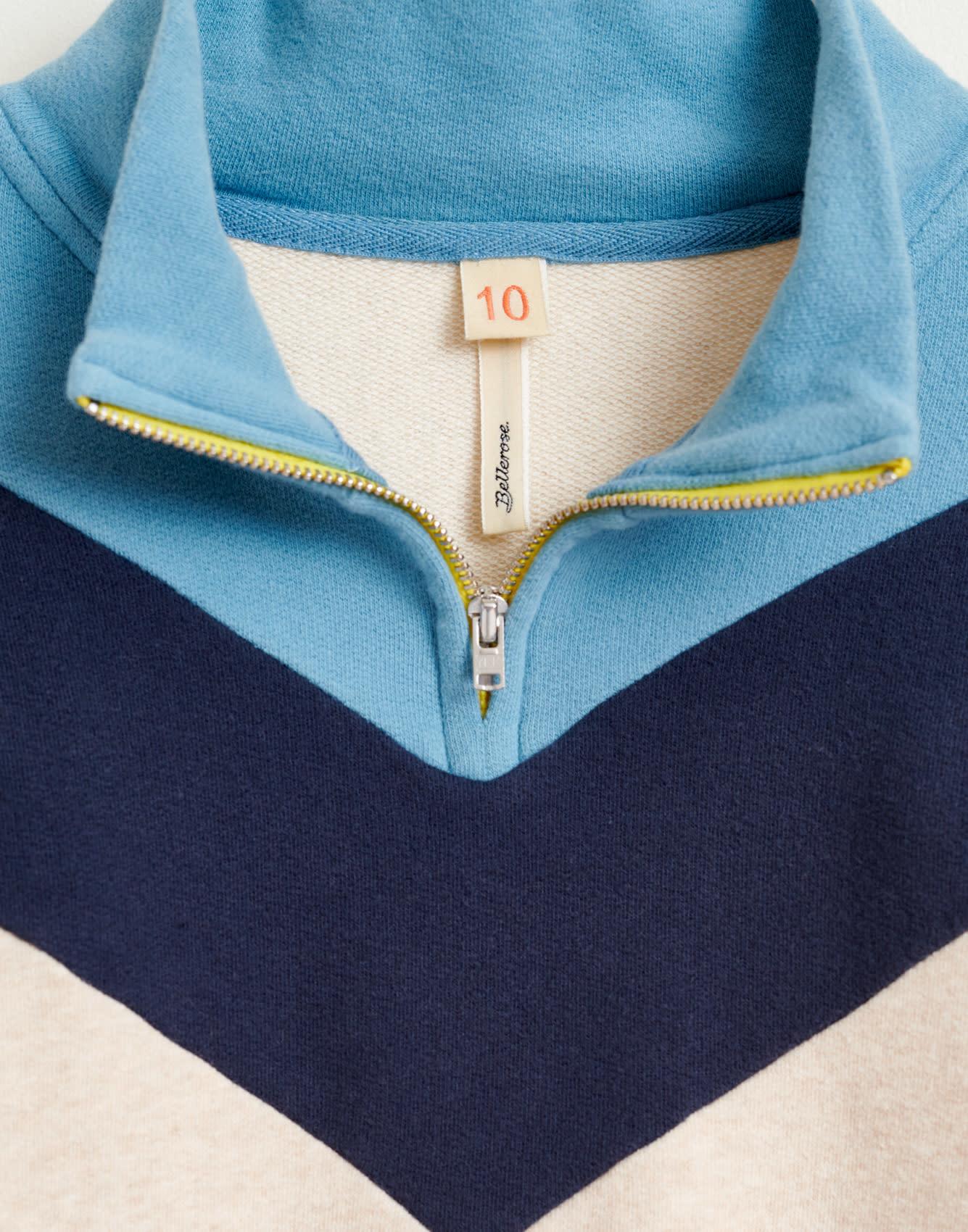 Vichy sweatshirt oyster-3
