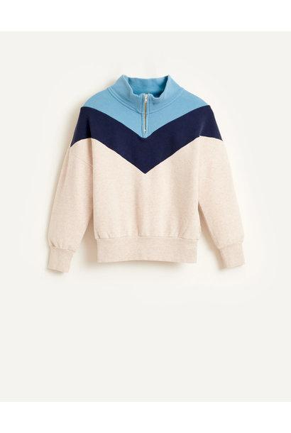 Vichy sweatshirt oyster