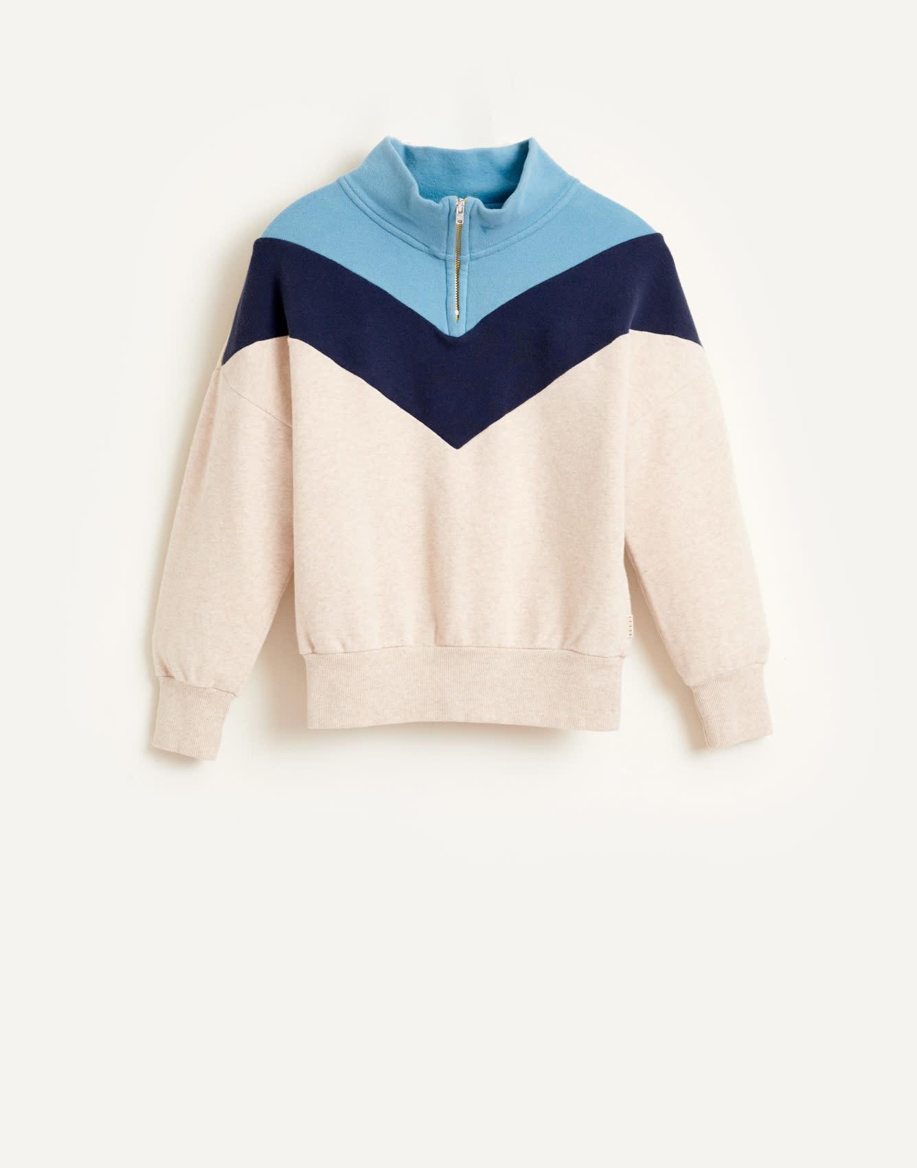 Vichy sweatshirt oyster-1