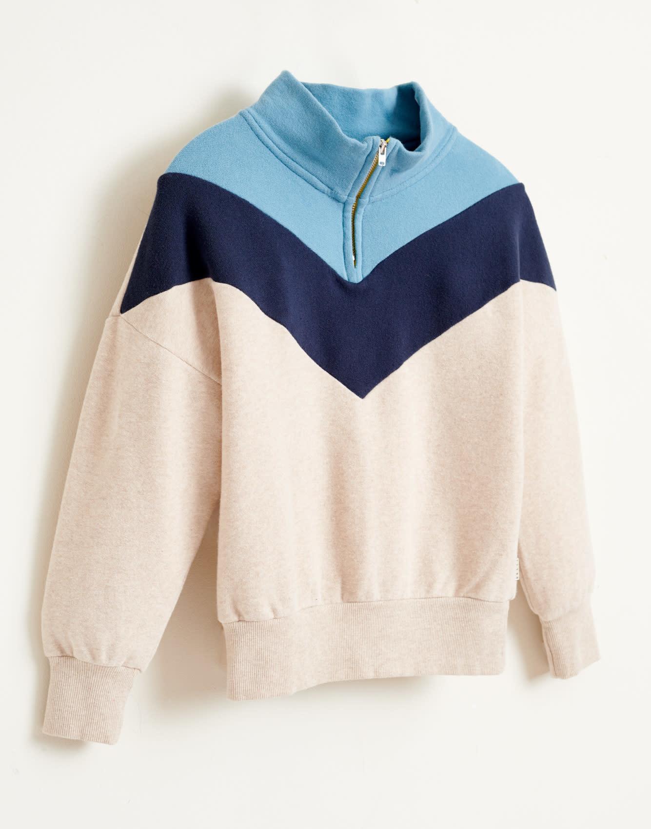Vichy sweatshirt oyster-4