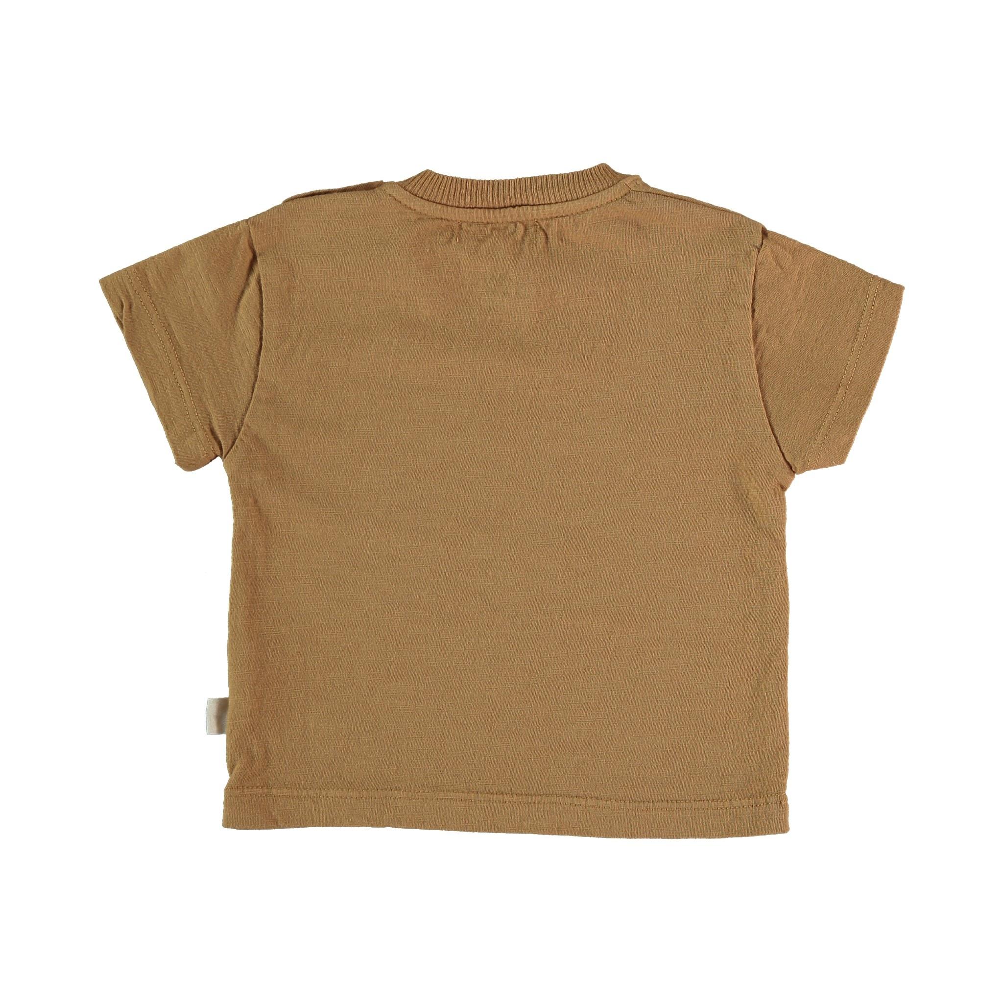 Connect organic cotton flame t-shirt peanut-2