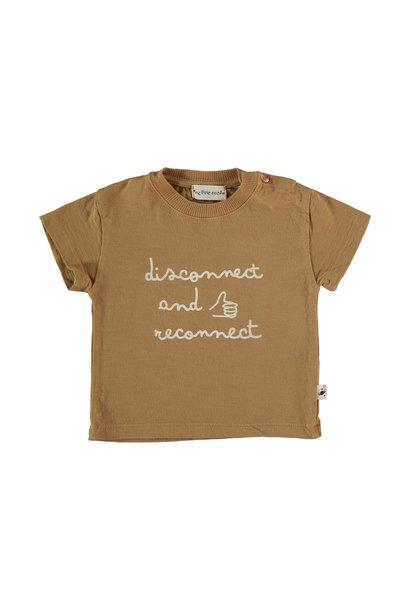 Connect organic cotton flame t-shirt peanut