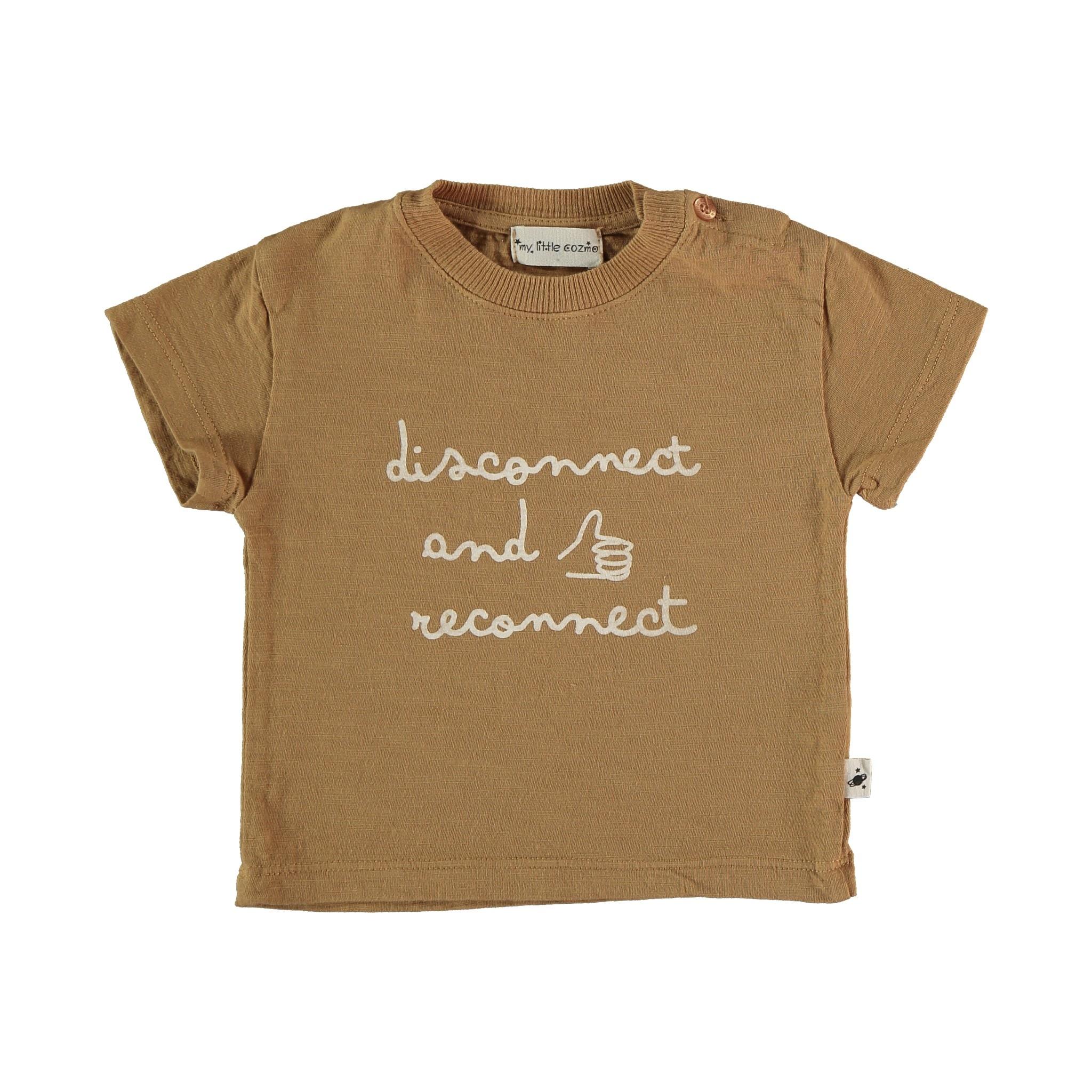 Connect organic cotton flame t-shirt peanut-1