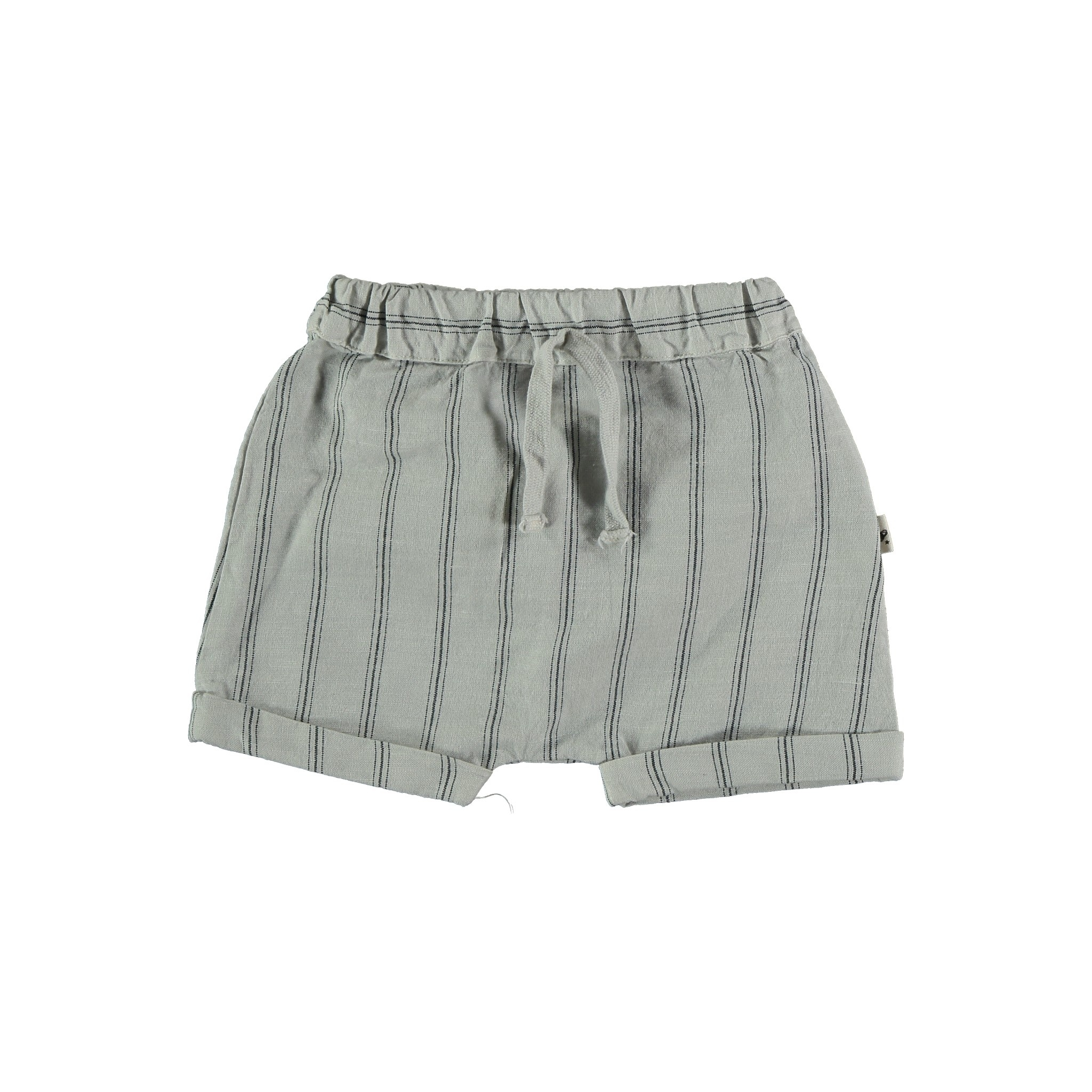 Kai striped shorts light grey-1