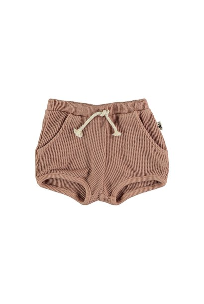 Max organic cotton waffled bloomers terracotta