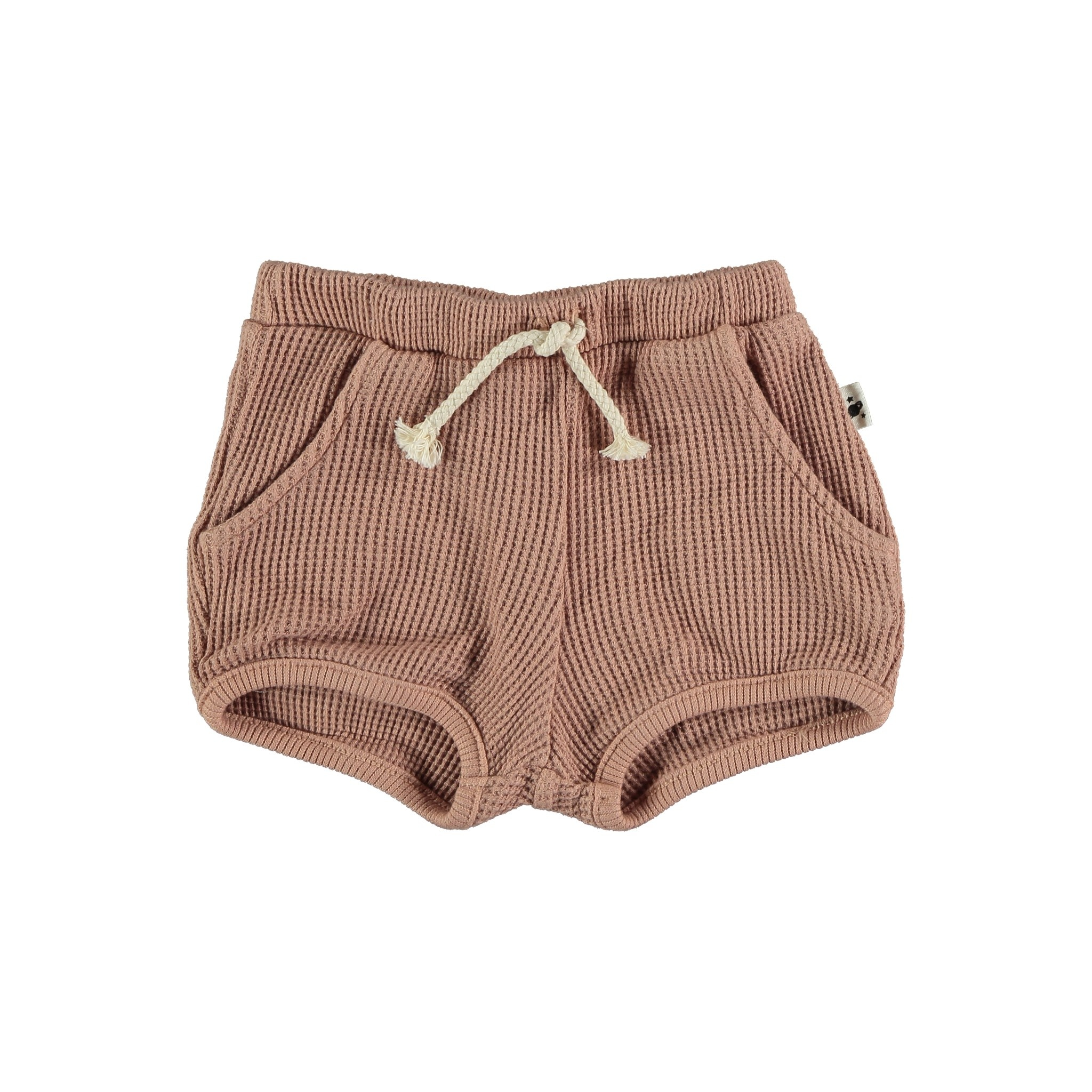 Max organic cotton waffled bloomers terracotta-1