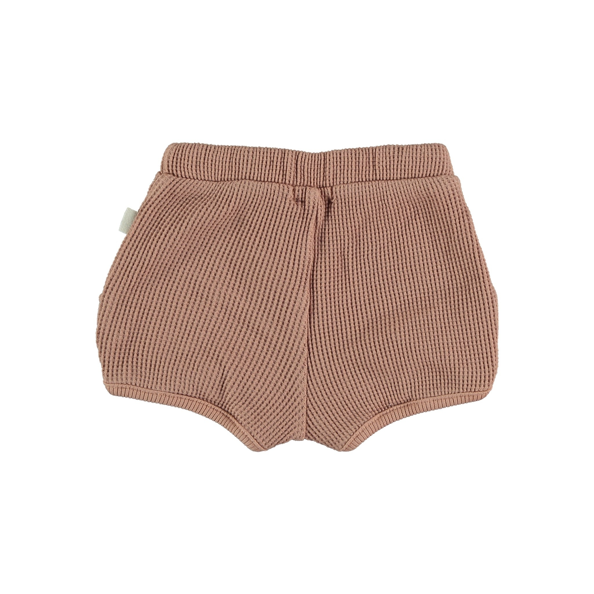 Max organic cotton waffled bloomers terracotta-2