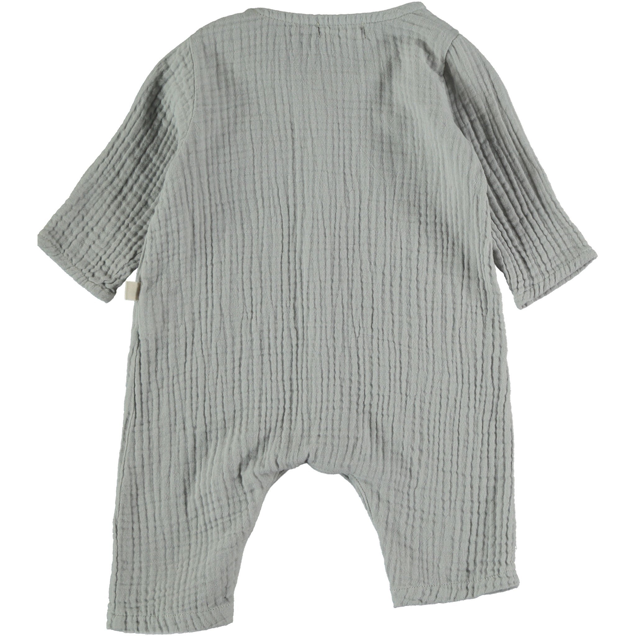 Noah organic cotton gauze jumpsuit light grey-2