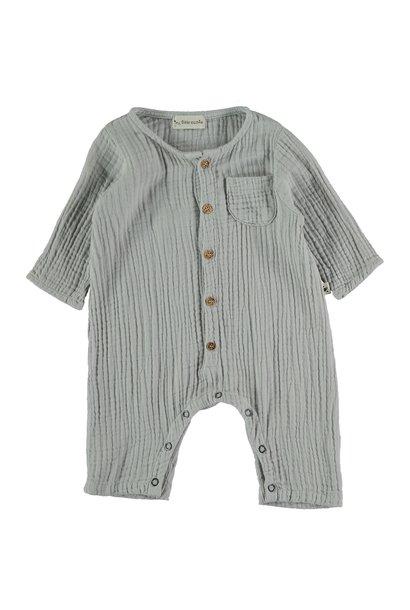 Noah organic cotton gauze jumpsuit light grey