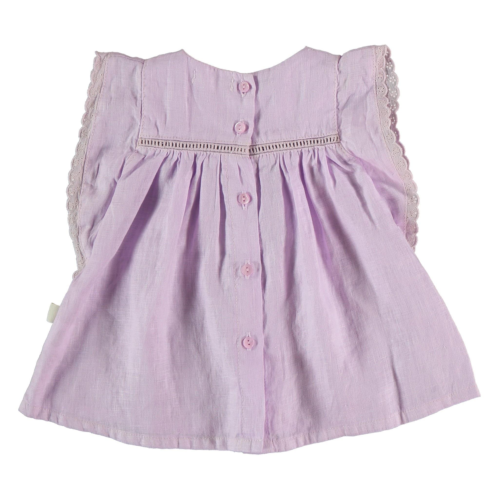 Novah linen dress mauve-2