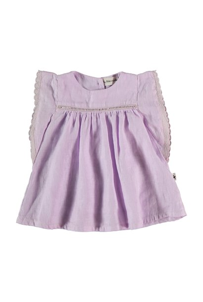Novah linen dress mauve