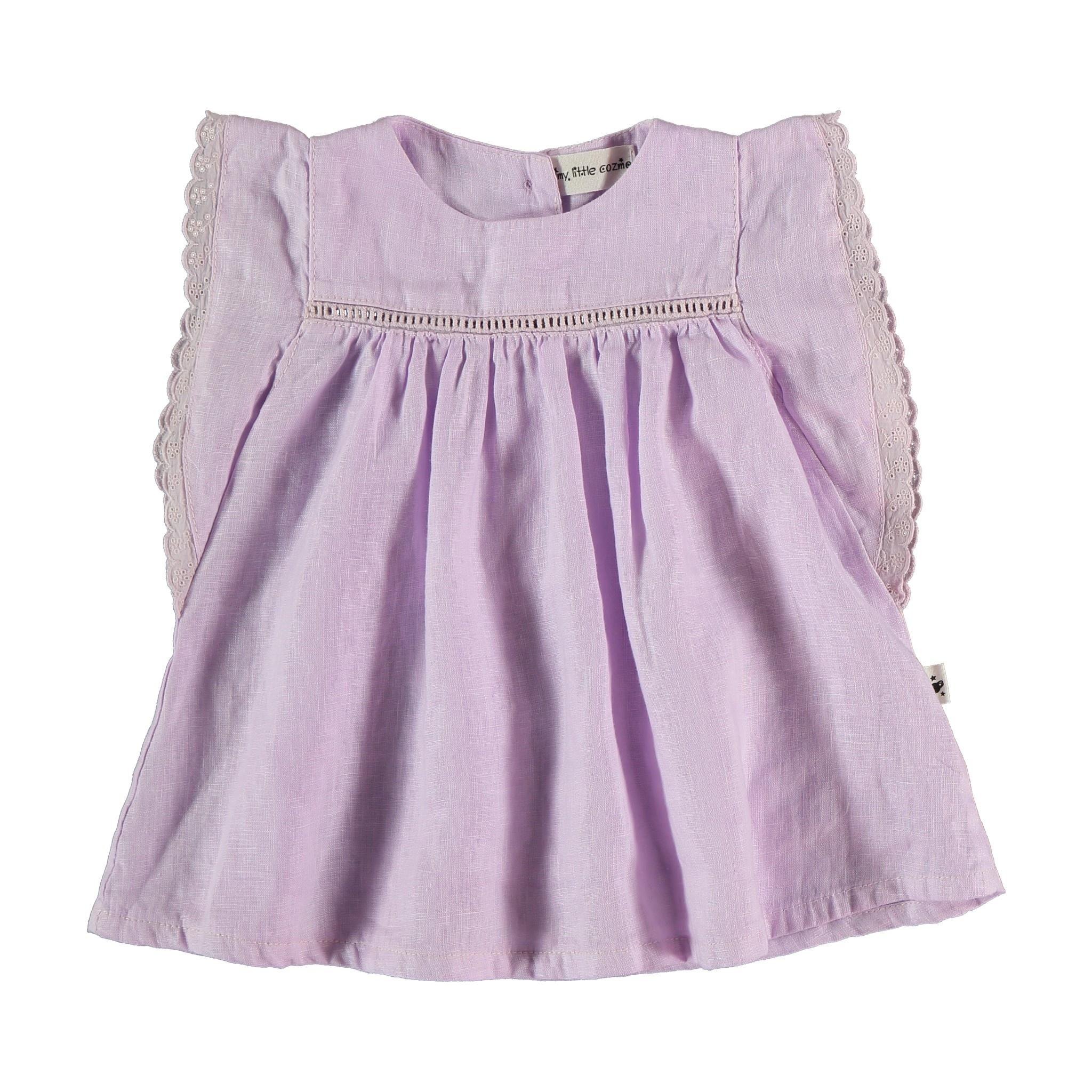 Novah linen dress mauve-1