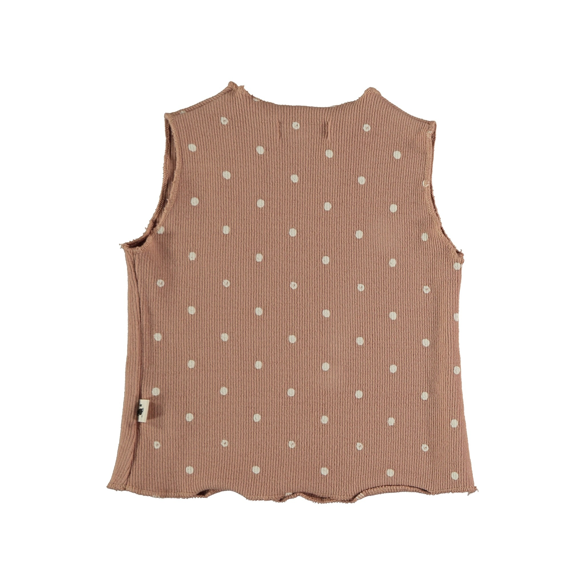 Stella organic ribbed dotted tank terracotta-2