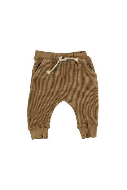 Tim organic cotton waffled pants peanut
