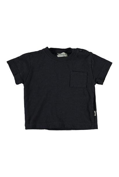 Zen organic cotton flame t-shirt dark blue