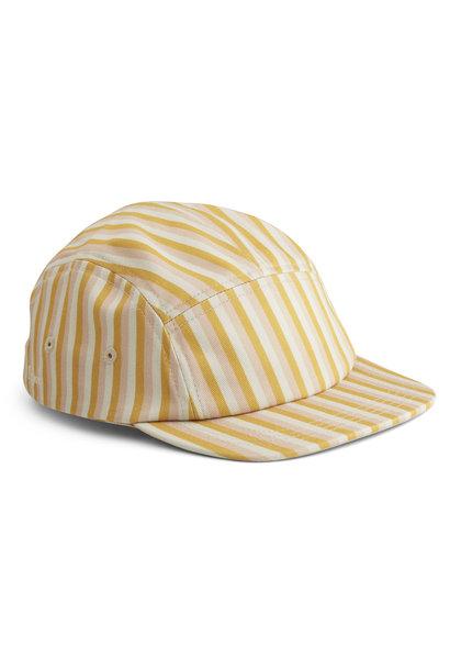 Rory cap stripe peach/sandy/yellow mellow