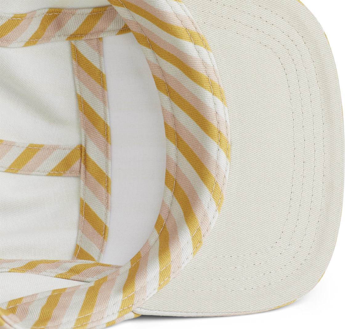 Rory cap stripe peach/sandy/yellow mellow-3