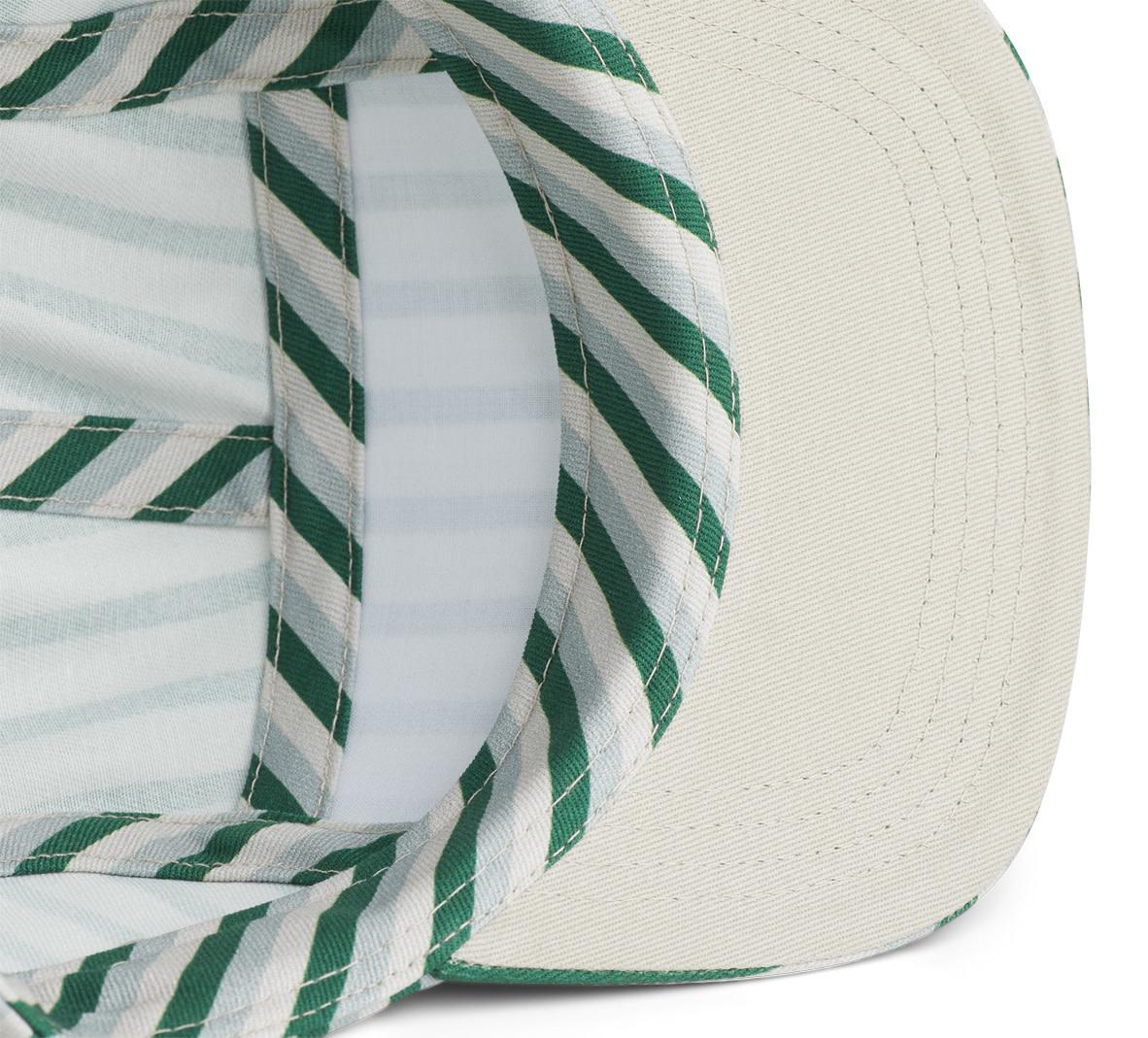 Rory cap stripe garden green/sandy/dove blue-2