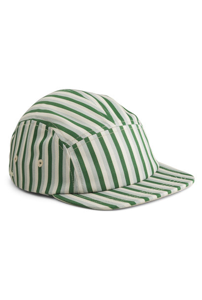 Rory cap stripe garden green/sandy/dove blue