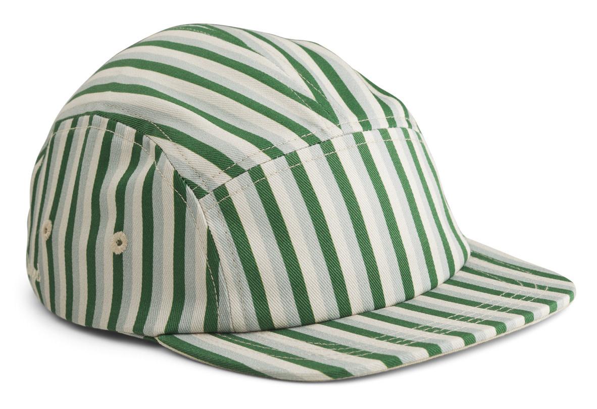 Rory cap stripe garden green/sandy/dove blue-1