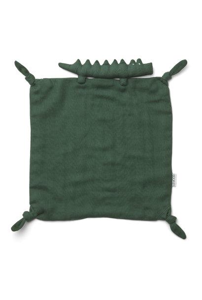 Agnete cuddle cloth crocodile garden green