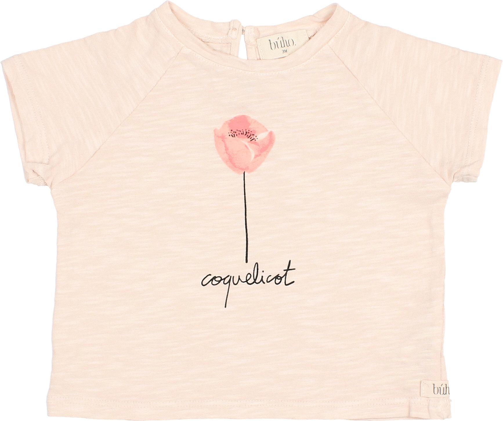 Drew coquelicot t-shirt rose-1