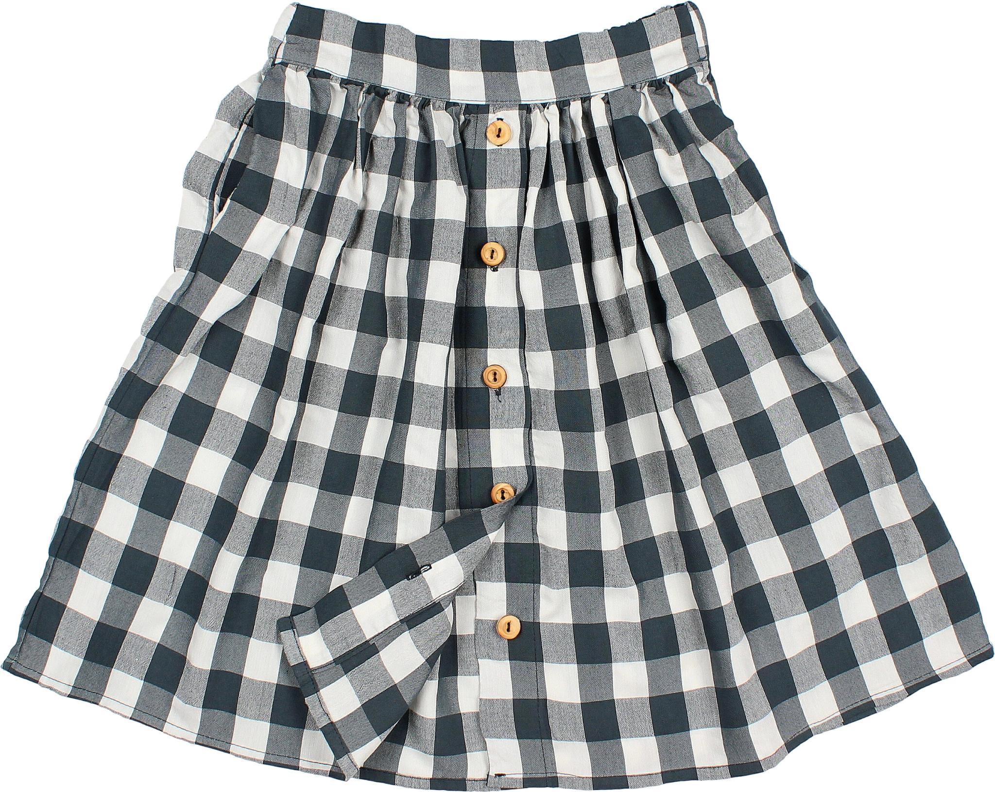 Brooke gingham skirt blue night-1