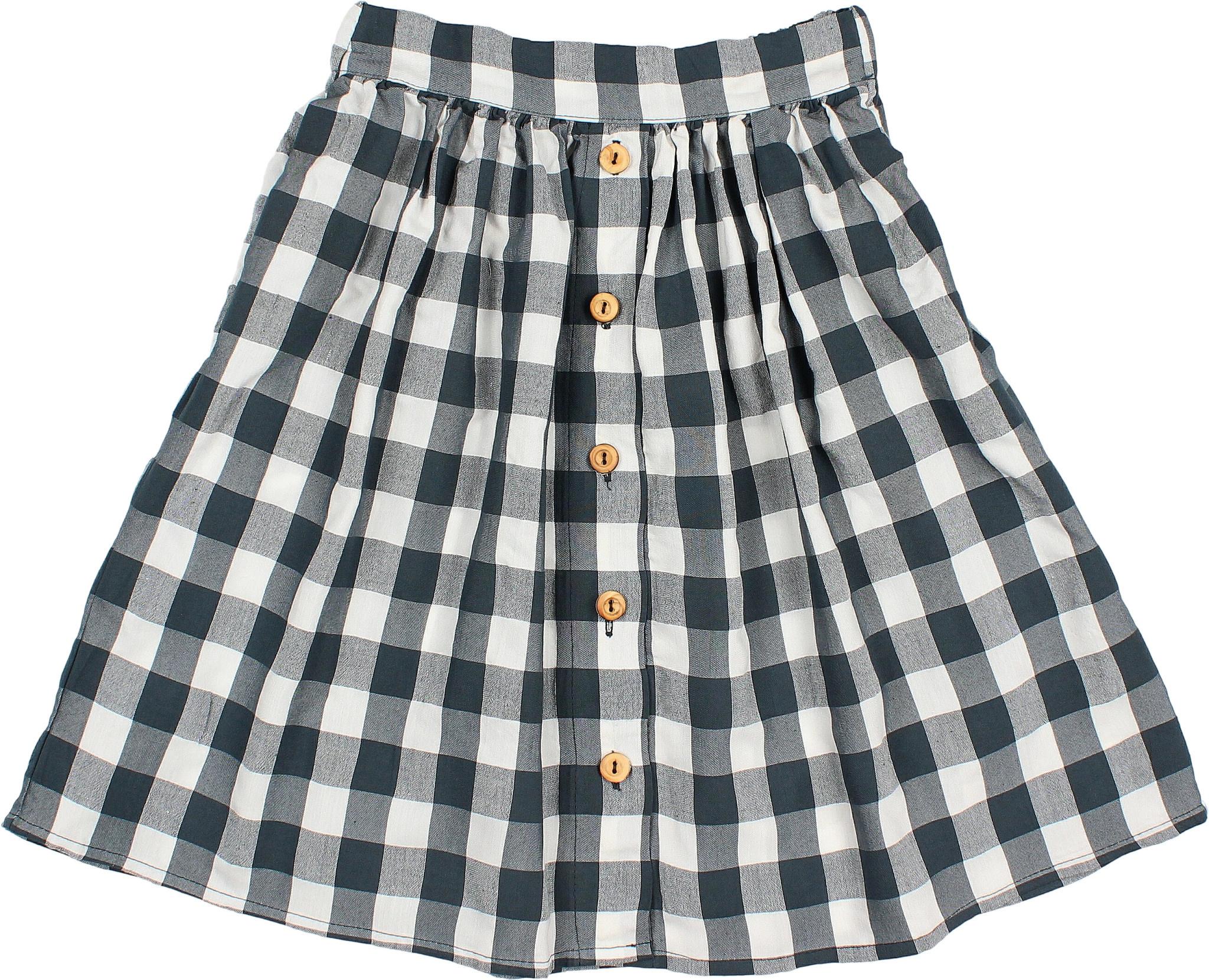 Brooke gingham skirt blue night-2