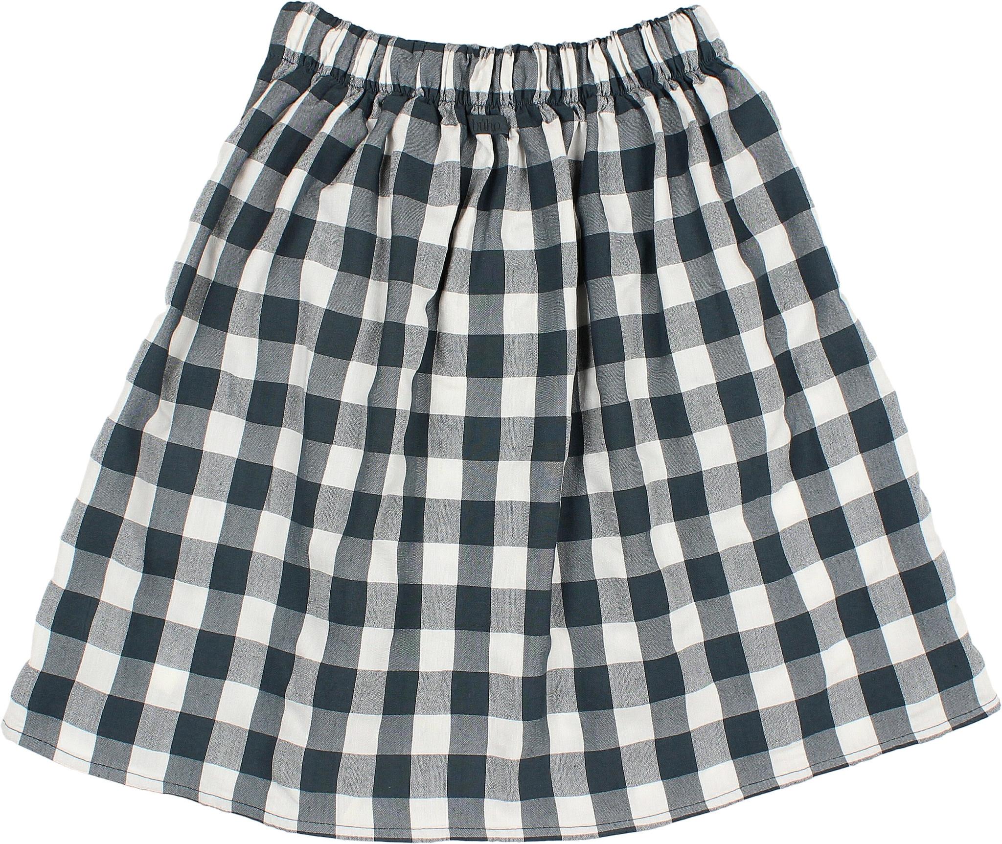 Brooke gingham skirt blue night-3