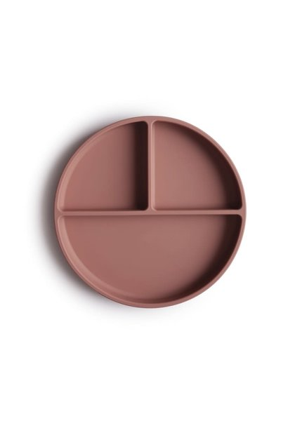 Silicone plate cloudy mauve