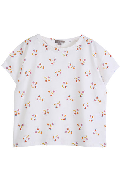 Tee shirt ecru fruit kids