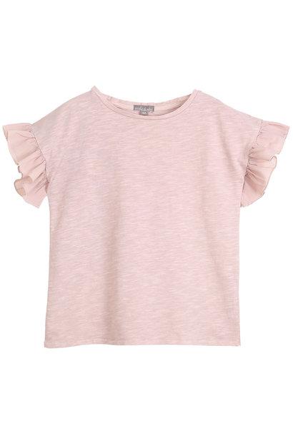 Tee shirt vieux rose