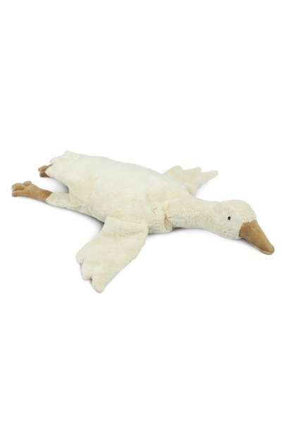 Cuddly animal goose small off-white