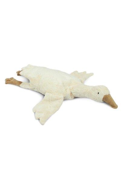 Cuddly animal goose large off-white