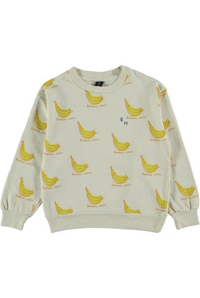 Sweatshirt banana siesta ivory