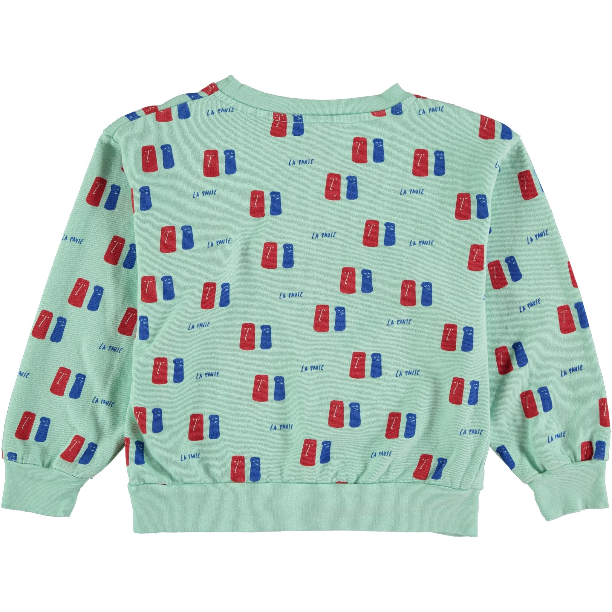 Sweatshirt la pause dusty aqua-2