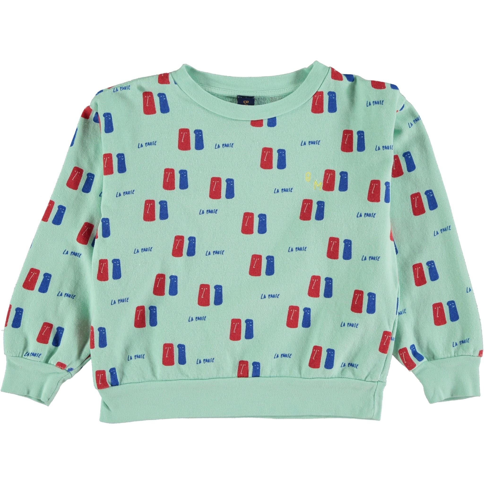 Sweatshirt la pause dusty aqua-1