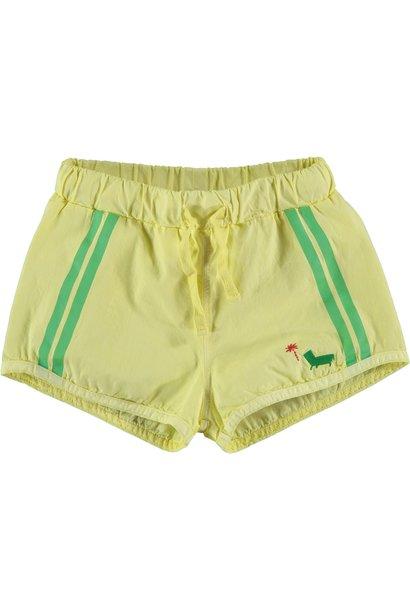 Swim short palm sunshine yellow