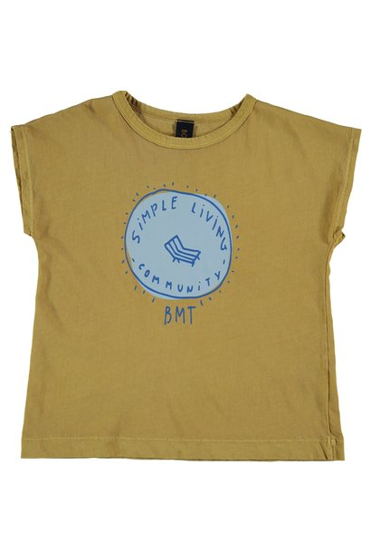 T-shirt simple living mustard