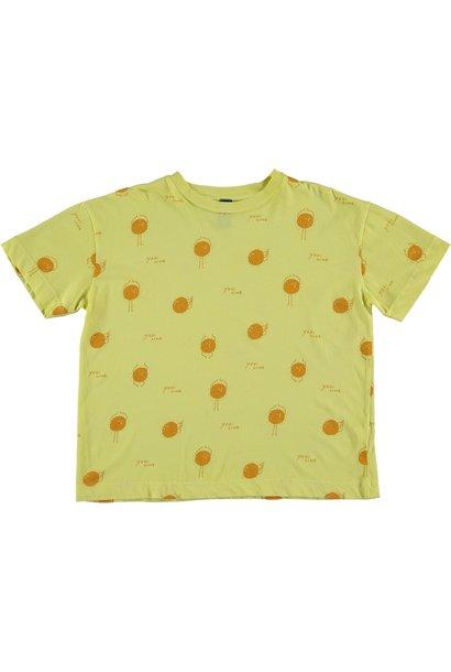 T-shirt yogi sun sunshine yellow